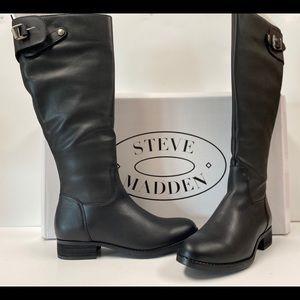 Women's, Steve Madden, black, knee high boots